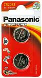 Батарейки PANASONIC CR2032 Lithium Power, 2шт