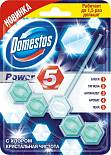 "Блок для унитаза Domestos ""Power 5"", с хлором, 55 г"