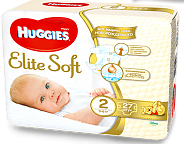 Подгузники  HUGGIES Elite Soft  3-6 кг 27 штук